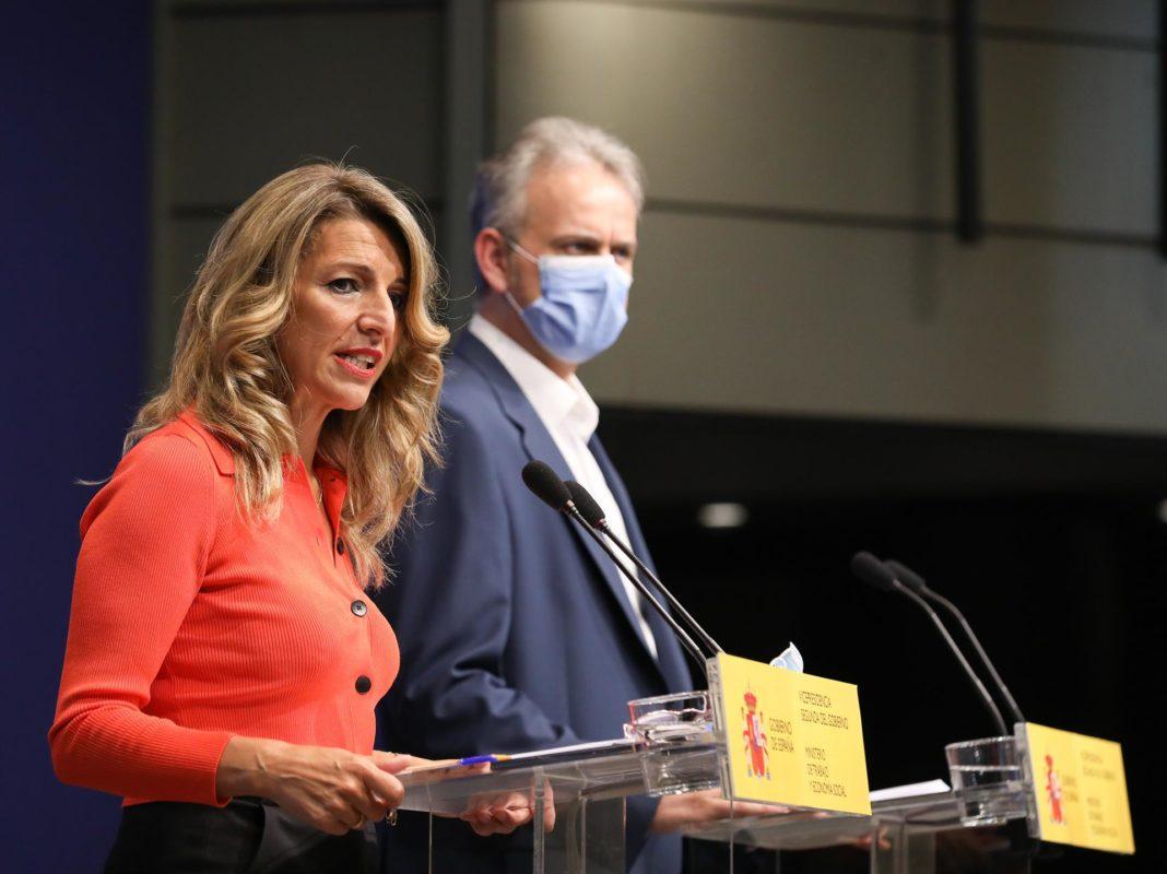 Yolanda Díaz y Héctor Illueca